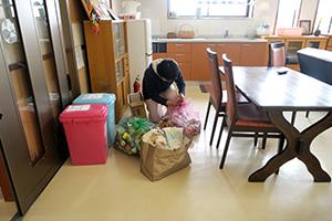 食堂の掃除