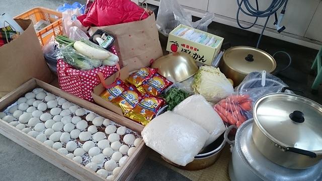 越冬炊き出し準備(大鍋、餅、カイロなど)