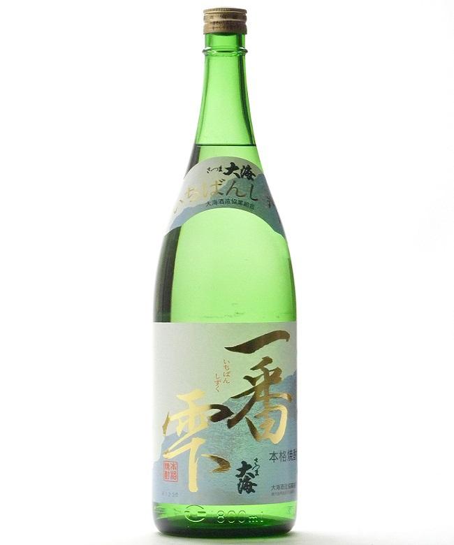 芋焼酎「一番雫(いちばんしずく)」1800ml(25度) / 大海酒造(鹿児島県鹿屋市)