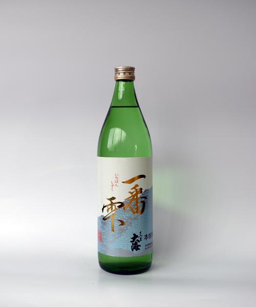 芋焼酎「一番雫(いちばんしずく)」900ml(25度) / 大海酒造(鹿児島県鹿屋市)