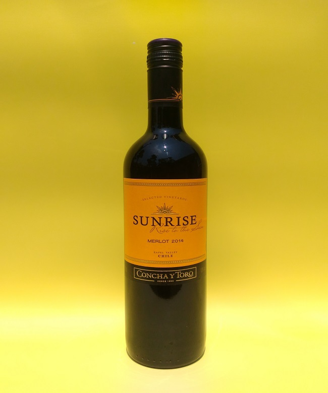 赤ワイン「SUNRISE MERLOT(サンライズ メルロー)2014」750ml(13度) / コンチャ・イ・トロ社(チリ)